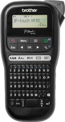 Brother Beschriftungsgerät PT-H110, 16-Zeichen-Display, Fähnchendruckfunktion