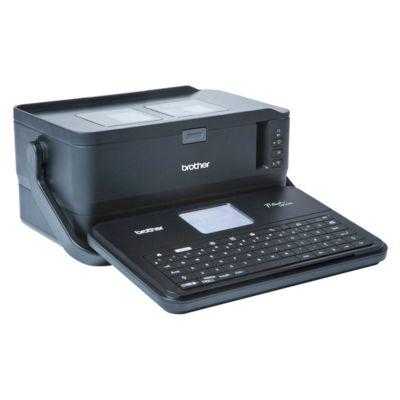 Brother Beschriftungsgerät PTD800W, USB u. WLAN, abnehmbare LCD-Tastatur, Tragegriff