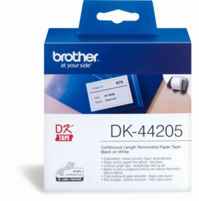 brother etiket op rol, DK-44205, 62 mm x 30,48 m, papier wit, verwijderbaar