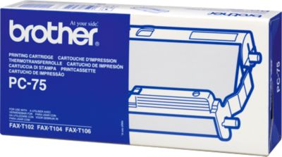 Brother faxrollen Brother PC75 Thermo-Transfer-Rol met Kassette, 140 Paginas