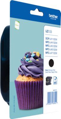 Brother inkjet Brother LC123BK Inktcartridge zwart, 600 Paginas ISO/IEC 24711 voor MFC-J 4410 DW/4510 ...