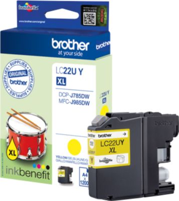 Brother inktcartridge LC-22UY, geel, brother inktpatroon LC-22UY