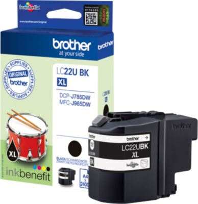 Brother Inktpatroon LC-22UBK, zwart
