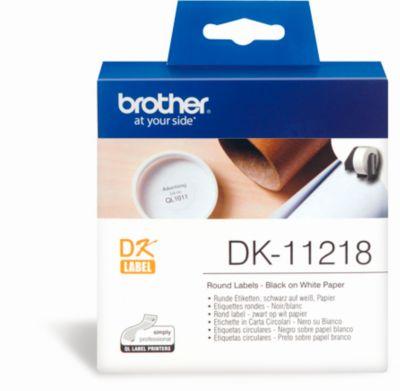 BROTHER Runde Etiketten DK-11218, ø 24mm, 1000 Stück