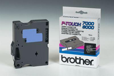 Brother Schriftbandkassette TX-315, 6 mm breit, schwarz/weiß