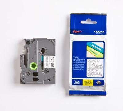Brother Schriftbandkassette TZe-135, 12 mm breit, farblos/weiß