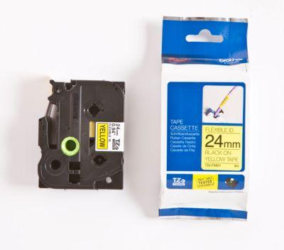 Brother Schriftbandkassette TZe-FX651, 24 mm, gelb/schwarz