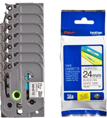 brother tapecassette, breedte 24 mm, TZe-251, 6 + 1 gratis