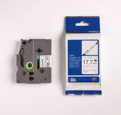 brother tapecassette TZ HSE-241, 17,7 mm, zwart/wit
