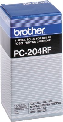 Brother Thermotransferband PC-204RF, 4 Rollen, schwarz