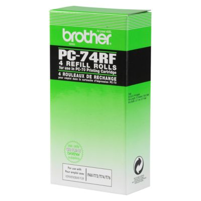 Brother Thermotransferband PC-74RF, 4 Rollen, schwarz