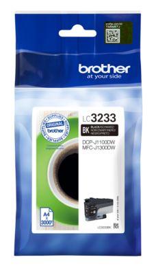 Brother Tintenpatrone LC-3233BK, schwarz, 3000 Seiten