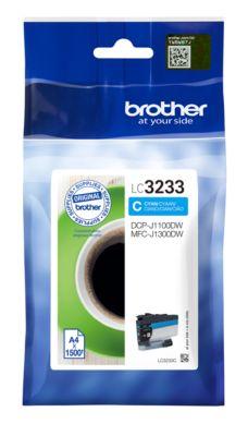Brother Tintenpatrone LC-3233C, cyan, 1500 Seiten