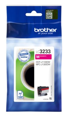 Brother Tintenpatrone LC-3233M, magenta, 1500 Seiten
