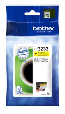 Brother Tintenpatrone LC-3233Y, gelb, 1500 Seiten