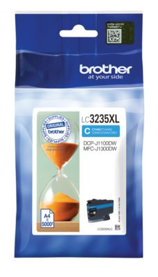 Brother Tintenpatrone LC-3235XLC, cyan, 5000 Seiten