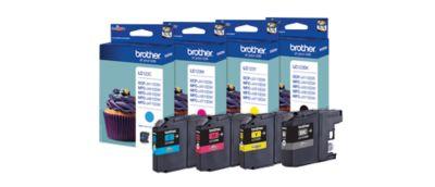 Brother voordeelpakket 4 inktpatronen LC-123BK/C/M/Y zwart, cyan, magenta, geel