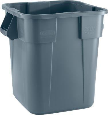Brute container, vierkant, 105 liter, grijs