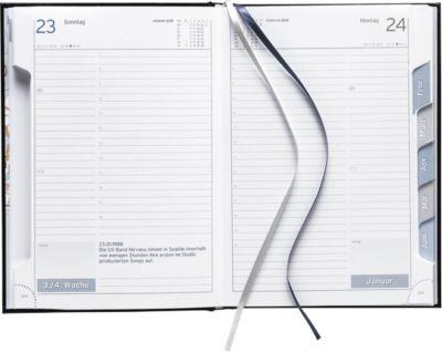Buchkalender Clubline, mit Monatsregisterstanzung
