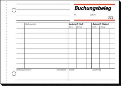 Buchungsbelege sigel® BU 615, 50 Blatt