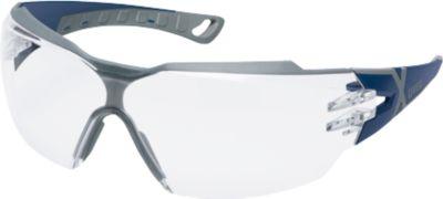 Bügelbrille Uvex pheos cx2 fbl sv, EN 166, EN 170, Polycarbonat klar, Rahmen blau/grau, 5 Stück