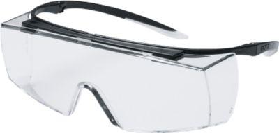 Bügelbrille Uvex super f OTG, EN 166, EN 170, Polycarbonat klar, Rahmen schwarz/weiß, 5 Stück
