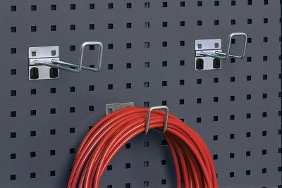 Bügelhaken mit breiter Grundplatte, ø 6 x T 100 mm, 5 Stück