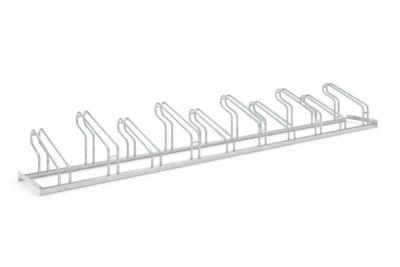 Bügelparker WSM, 1-seitig, für Reifen bis B 55 mm, B 3500 x T 1850 x H 415 mm, Stahl feuerverzinkt, 10 Einstellplätze, montiert