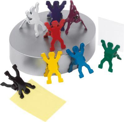 Büroclips Team, silber, bunte Figuren