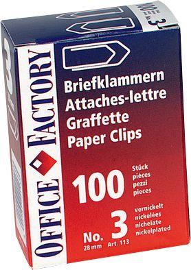 Büroklammern, 24 mm, 100 Stück