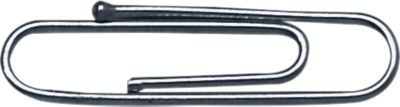 Büroklammern, mit Kugelspitze, verzinkt, 1000 Stück, Länge 24 mm