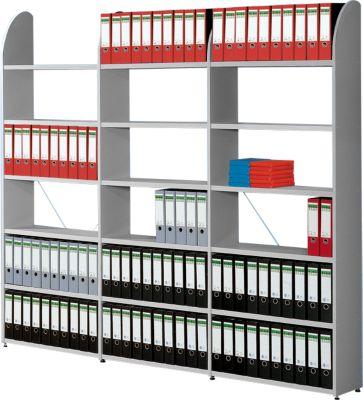 Büroregal Dante®, Regalfeld, H 1900 x B 800 mm, ohne Rückwand, lichtgrau