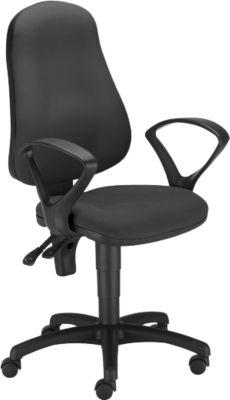 Bürostuhl PUNKT ERGO, Permanentkontakt, ohne Armlehnen, Muldensitz, höhenverstellbar