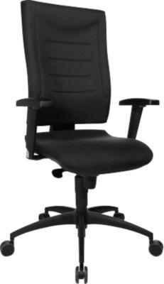 Bürostuhl SSI Proline P1, Synchronmechanik, mit Armlehnen & Lendenwirbelstütze, Bandscheibensitz