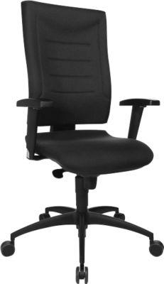 Bürostuhl SSI Proline P1, Synchronmechanik, ohne Armlehnen, Lordosenstütze & Knierolle, schwarz