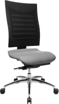 Bürostuhl SSI Proline S3, ohne Armlehnen, Synchronmechanik, ergonomische Lehne, grau/schwarz