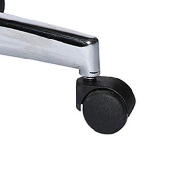 Bürostuhlrollen für harte Böden, für Bürostuhl OPEN XT, lastabhängig gebremst, Kunststoff, schwarz, 5 Stück