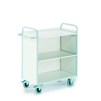 Bürowagen mit Seitenwänden und Rückwand, 1000 x 490 mm, Tragkraft 150 kg