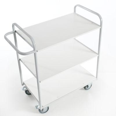 Bürowagen ohne Wände, 800 x 500 mm, Tragkraft 150 kg
