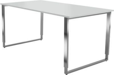 Bur.tafel m.sledeframe Axxeto, b 1600 x d 800 x h 680-820 mm, l.grs