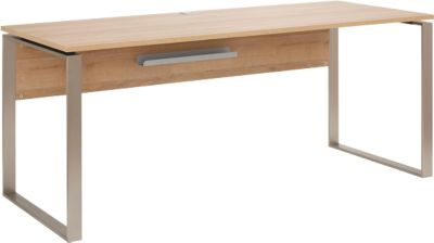 Bureau Amy, met snoeruitsparing, metalen sledeframe, B 1800 mm