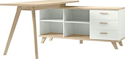 Bureau m. sideboard, wit/Sanremo