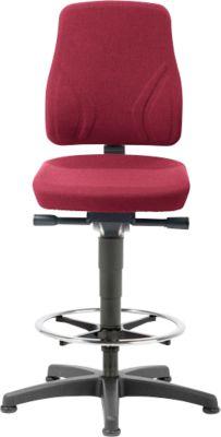 Bureaustoel All-in-One 9631, Klimhulpmiddel en glijdoppen, Stoffen bekleding, Duotec red.