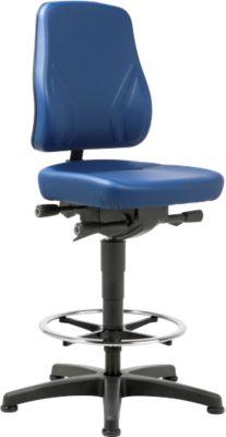 Bureaustoel All-in-One 9631, klimtoestel en glijbanen, imitatieleer, Skai-blauw, Skai-blauw