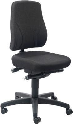 Bureaustoel All-in-One Trend 9633, met wielen, stoffen bekleding, Duotec zwart gevlekt, met zwarte vlekken.