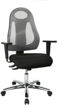 Bureaustoel Topstar FREE ART, met design-rugleuning, lichtgrijs
