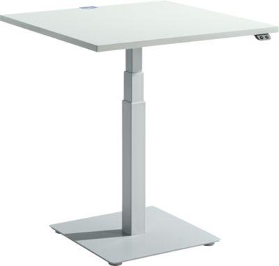 Bureautafel FLEXXAS, elektrisch in hoogte verstelbaar, ergonomisch, b 800 mm, lichtgrijs