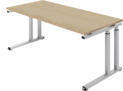 Bureautafel SET UP, C-poten, 1800x800mm, eiken-decor/witalu