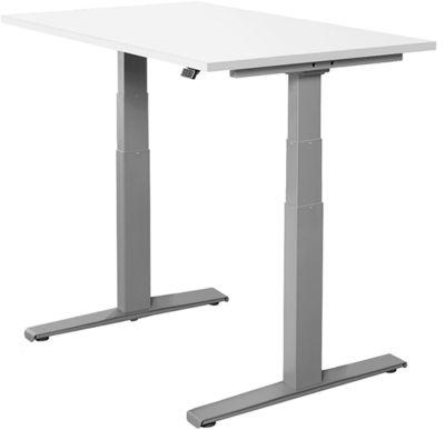Bureautafel SET UP, T-poten, elektrisch hoogteverstelbaar, 1200x800mm, wit