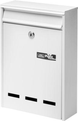 Burg Wächter Briefkasten Pocket, Stahlblech, Einwurf DIN B5, abschließbar, Weiß